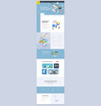 one page website template design vector image vector image