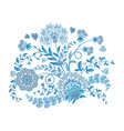 ornate embroidery ornament with fantastic flowers vector image vector image