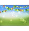 Party flags celebrate abstract background and vector image vector image