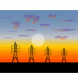 poles electric an iron construction vector image