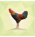 polygonal rooster silhouette of colorful cock vector image