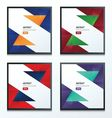 polygons design template set 4 in 2 color style vector image