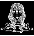 Portrait of mystic girl with three eyes vector image vector image