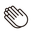 praying hands prayer icon vector image