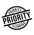 Priority rubber stamp vector image vector image