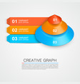pyramid icon for business creative graph vector image vector image