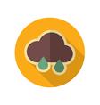 Rain Cloud retro flat icon Meteorology Weather vector image vector image
