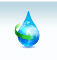 recycle water concept vector image vector image