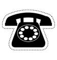 retro telephone isolated icon vector image vector image
