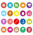 School flat icons on white background vector image vector image