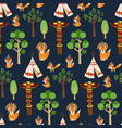 seamless pattern texture with foxes vector image