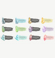 set of colorful elongated flags with crystals vector image