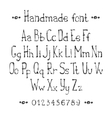Simple monochrome hand drawn font Complete abc vector image vector image