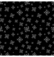 Snowflakes seamless pattern Black christmas vector image vector image