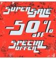 Super sale poster vector image vector image