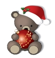 Teddy bear is ready for the Christmas vector image vector image