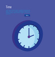 time clock isometric icon vector image