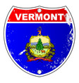 vermont flag icons as interstate sign vector image vector image