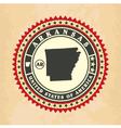 vintage label-sticker cards arkansas vector image vector image