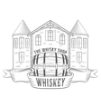 Vintage Whiskey Shop vector image vector image