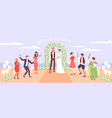 wedding ceremony on sea beach vector image