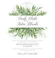 wedding invite save the date card greenery design vector image vector image