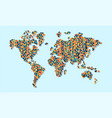 world map colorful abstract pixels concept vector image vector image