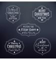 Vintage Typography Christmas Badges Set vector image