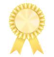 golden award badge vector image