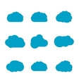 clouds collection isolated vector image