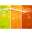Three vertical autumn banners vector image