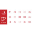 15 filmstrip icons vector image vector image