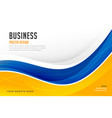 abstract bright blue and yellow wave business vector image