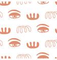 abstract minimal eyes seamless pattern vector image vector image