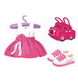 baby girl set - for design and scrapbook vector image vector image