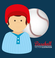 baseball sport player character vector image