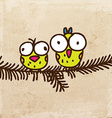 Birds on a Branch Cartoon vector image vector image
