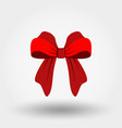 bow red icon flat design vector image