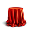 box covered with red silk cloth vector image vector image