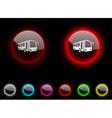 Bus button vector image