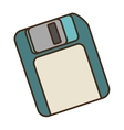 cartoon floppy diskette storage information office vector image