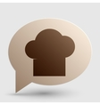 Chef cap sign Brown gradient icon on bubble with vector image vector image