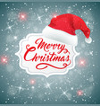 christmas background with hat of santa claus vector image vector image