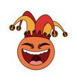 clown cartoon icon image vector image vector image