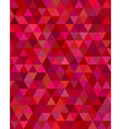 Dark red triangle mosaic background vector image vector image