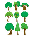 different shapes of tree vector image vector image