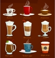 Different types of coffee Espressoamericano vector image