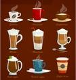 Different types of coffee Espressoamericano vector image
