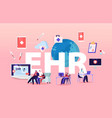 ehr electronic health record concept patient vector image