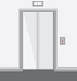 Elevator with closed doors vector image vector image